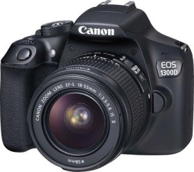 Canon EOS 1300D schwarz mit Objektiv EF-S 18-55mm 3.5-5.6 IS II Power Kit (1160C066)