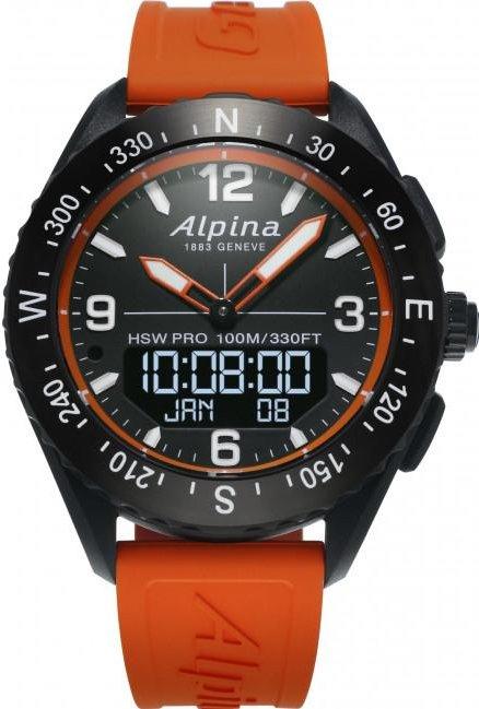 Alpina AlpinerX schwarz mit Kautschukarmband orange (AL-283LBO5AQ6) -- via Amazon Partnerprogramm
