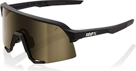 100% S3 soft tact black/soft gold mirror lens-clear lens (61034-100-69)