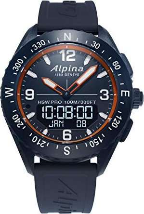 Alpina AlpinerX blau/orange mit Kautschukarmband blau (AL-283LNO5NAQ6) -- via Amazon Partnerprogramm