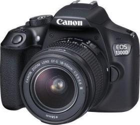 Canon EOS 1300D schwarz mit Objektiv EF-S 18-55mm 3.5-5.6 IS II Set (1160C113)