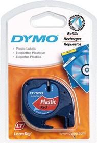 Dymo LetraTag 12mm, rot auf schwarz (91223/S0721680)