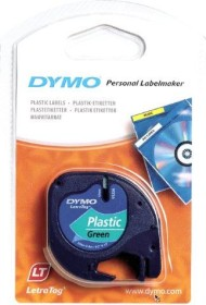 Dymo LetraTag labelling tape 12mm, black/green (91224 / S0721690)