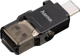 Hama OTG Single-Slot-Cardreader, USB-A 3.0/USB-C 3.0 [Stecker] (00124021)