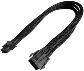 Nanoxia 8-Pin PCIe Verlängerung 30cm, sleeved schwarz (NX8PE3E)