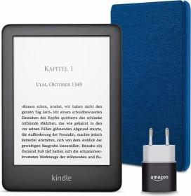 Bild Amazon Kindle J9G29R 10. Gen schwarz 4GB, mit Werbung, Essentials Bundle Blau