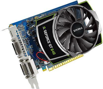 Sparkle GeForce GT 640 [GK107] OC, 1GB DDR3, 3x DVI, Mini HDMI (SX640S1024JK)