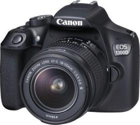 Canon EOS 1300D schwarz mit Objektiv EF-S 18-55mm und EF 50mm STM (1160C056)