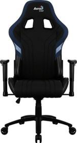 AeroCool Aero 1 Alpha Gamingstuhl, schwarz/blau (AEROAERO1-ALPHA-BB)