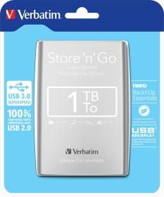 Verbatim store 'n' Go portable silver 1TB, USB 3.0 micro-B (53071)