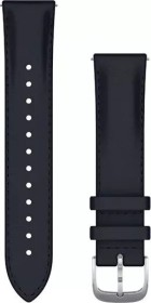 Garmin quick release replacement bracelet 20mm leather navy/silver (010-12924-20)