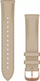 Garmin quick release replacement bracelet 20mm leather light sand/rose gold (010-12924-21)