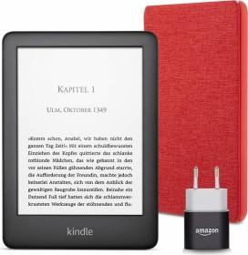 Bild Amazon Kindle J9G29R 10. Gen schwarz 4GB, mit Werbung, Essentials Bundle Rot