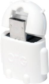LogiLink USB-OTG-Adapter weiß, Micro-B/USB-A (AA0063)