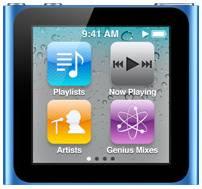 Apple iPod nano 16GB blau (6G) (MC695*/A)