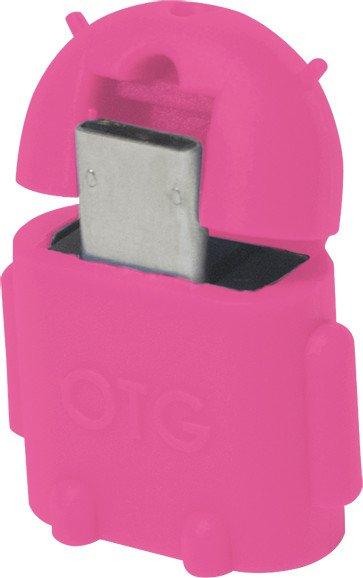 LogiLink USB-OTG-Adapter Kabel pink, Micro-B/USB-A (AA0065)