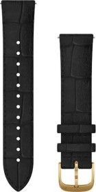 Garmin quick release replacement bracelet 20mm leather black/gold (010-12924-22)