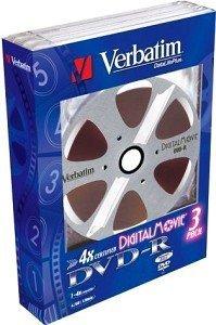 Verbatim DVD+R 4.7GB 4x, 3er Digital Movie (43277)