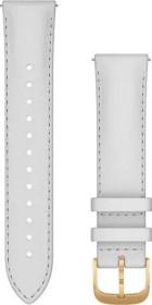 Garmin Schnellwechsel Ersatzarmband 20mm Leder weiß/gold (010-12924-28)