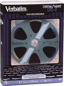 Verbatim DVD-R 4.7GB  4x,  3er Videobox (43277)