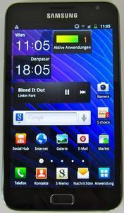 Samsung Galaxy Note N7000 32GB black/blue -- © tabtech.de