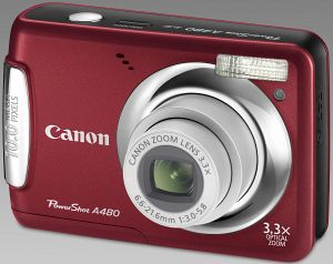 Canon PowerShot A480 red (3477B010)