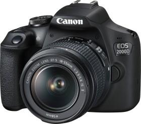 Canon EOS 2000D mit Objektiv EF-S 18-55mm 3.5-5.6 IS II Battery Kit (2728C010)