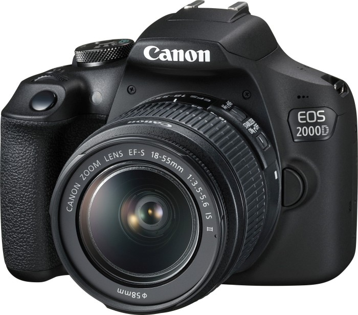 Canon EOS 2000D mit Objektiv EF-S  18-55mm 3.5-5.6 IS II Battery Kit (2728C010)