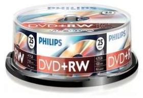 Philips DVD+RW 4.7GB, 25er-Pack (DW4S4B25F)