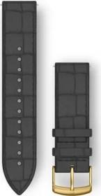Garmin Schnellwechsel Ersatzarmband 20mm Leder schwarz/gold (010-12691-0C)