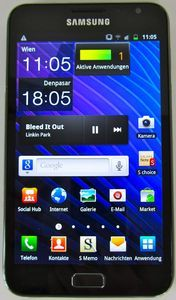 Samsung Galaxy Note N7000 32GB with branding -- © tabtech.de