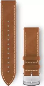 Garmin quick release replacement bracelet 20mm leather tan/silver (010-12691-0A)