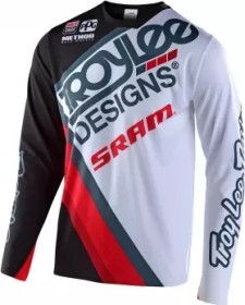 Troy Lee Designs Sprint Ultra Tilt Trikot langarm sram black/white (Herren) (356176-02)