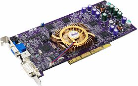 ASUS AGP-V8420/TD/64, GeForce4 Ti4200, 64MB DDR, DVI, TV-out, AGP