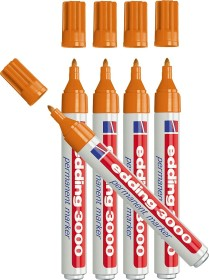 edding 3000 Permanentmarker orange, 5er-Pack (3000-006#5)