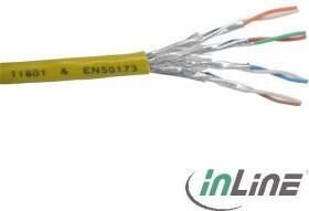 InLine Twisted-Pair Verlegekabel, Cat6, S/FTP, ohne Stecker, 100m, gelb (76499Y)
