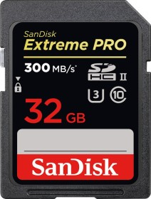 SanDisk Extreme PRO R300/W260 SDHC 32GB, UHS-II U3, Class 10 (SDSDXPK-032G-GN4IN)