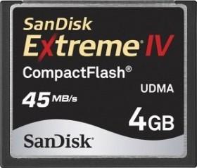 SanDisk CompactFlash Card [CF] Extreme IV 4GB (SDCFX4-4096)