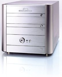 Soltek QBIC EQ3402A mini-Barebone aluminium [Socket 478/133/PC2700]
