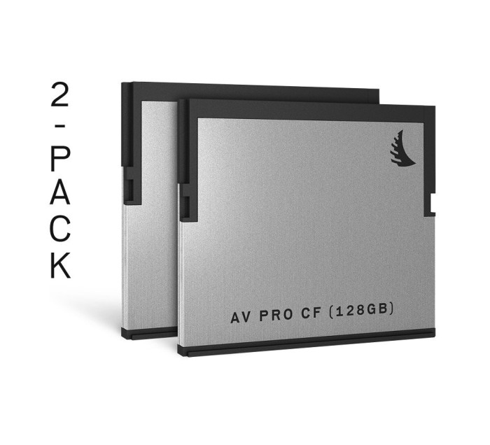 Angelbird R550/W490 CFast 2.0 CompactFlash Card [CFAST2.0] AV PRO 128GB, 2er-Pack (AVP128CFX2)