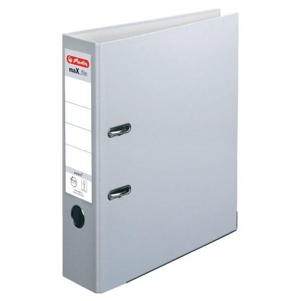Herlitz maX.file protect Ordner A4 8cm, grau (5480900)