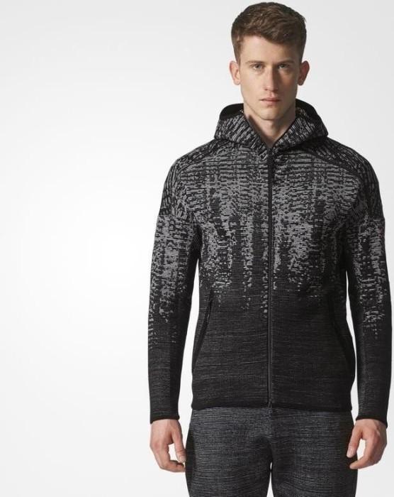 adidas Z.N.E. Pulse Knit Hoody Jacke schwarzgrau (Herren) (BS4877) ab € 78,10