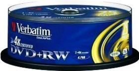 Verbatim DVD+RW 4.7GB 4x, 25er Spindel (43489)