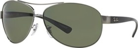 Ray-Ban RB3386 67mm gunmetal-black/polarized green (RB3386-004/9A)
