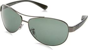 Ray-Ban RB3386 63mm gunmetal-black/polarized green (RB3386-004/9A)