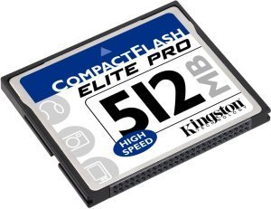 Kingston CompactFlash Card (CF) elite Pro 50x 512MB (CF/512-S)
