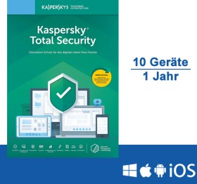 Kaspersky Lab Total Security 2020, 10 User, 1 Jahr, ESD (deutsch) (Multi-Device)