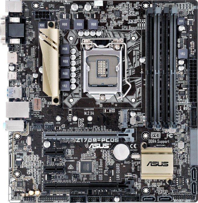 ASUS Z170M-Plus (90MB0M60-M0EAY0)