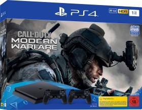 Sony PlayStation 4 Slim - 1TB inkl. 2 Controller Call of Duty: Modern Warfare Bundle schwarz (9326205)