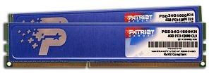 Patriot DIMM Kit 4GB, DDR3-1600, CL9 (PSD34G1600KH)